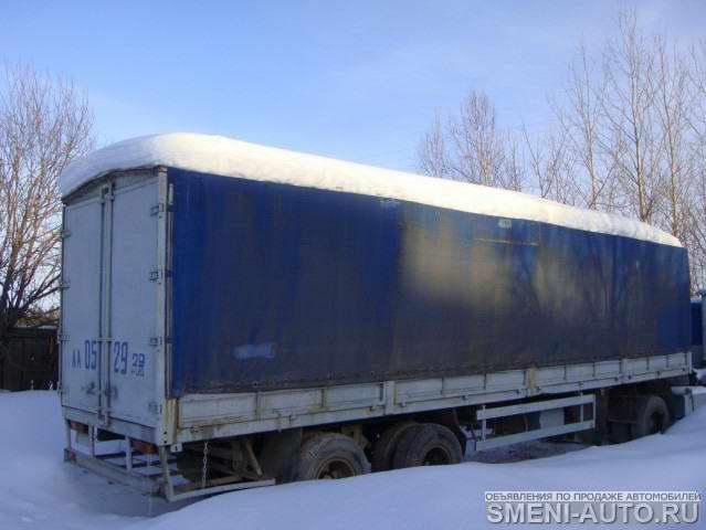 МАЗ 64229 3/осный тягач 2000 г.в. ,двигатель и КПП 2005 г.в.,магнитола,рация, навигатор, автономка.Полуприцеп МТМ...
